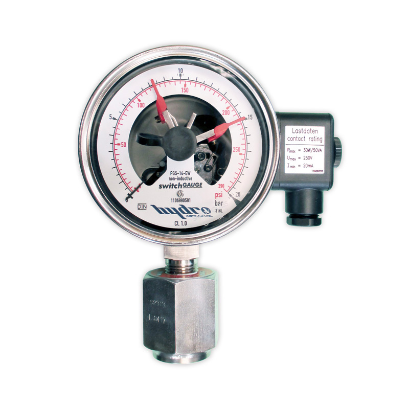 HYDRO Instruments introduce New Pressure Gauge with Adjustable Pressure Switch
